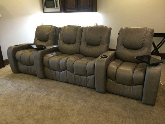 Palliser Equalizer Chair Loveseat Chair Sable Leather Transitional Home Theater