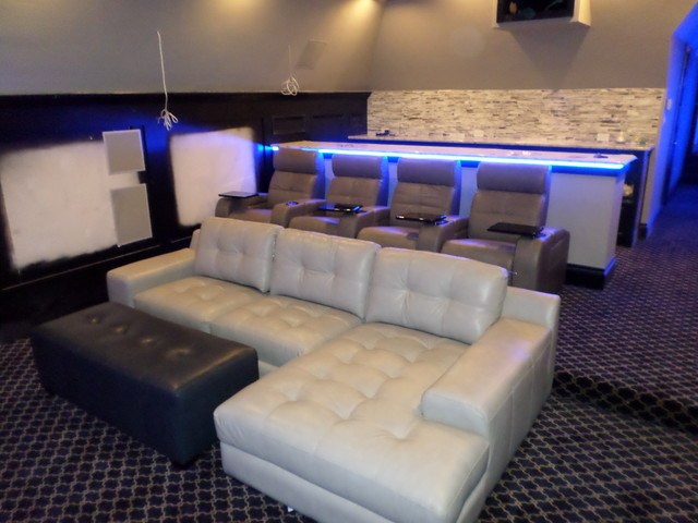 Palliser Leather Media Sectional With Theater Seatingcontemporary Home Dallas
