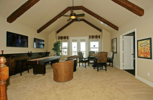 Park Place Estates in Frisco - traditional - media room - dallas