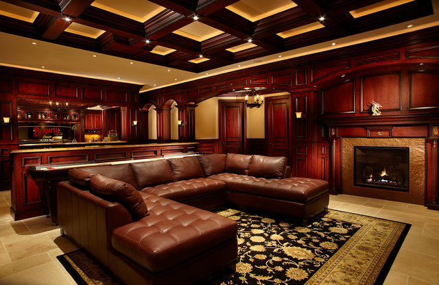 Perth Road traditional-home-theater