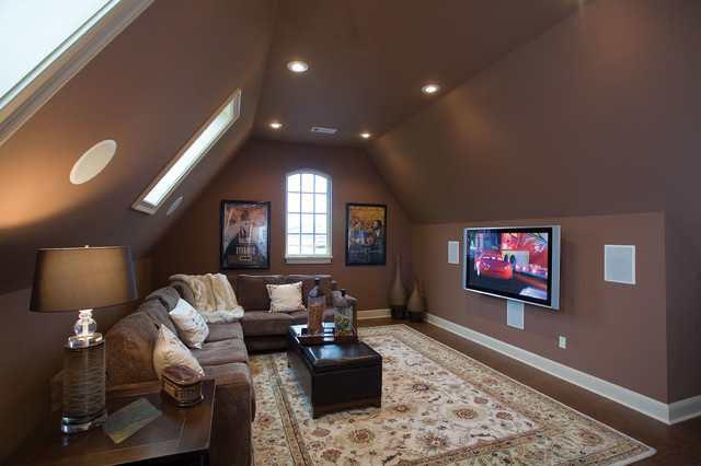 plan 055d 0817 traditional home theater - Room Over Garage Design Ideas