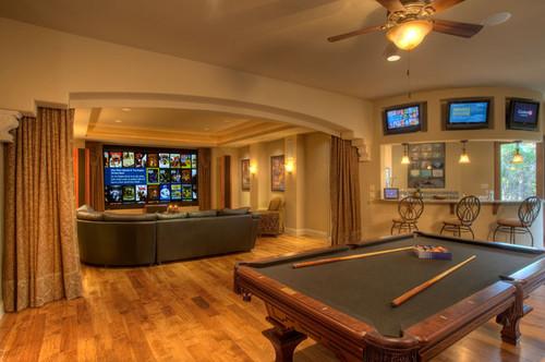 Mediterranean Media Room By Austin Home Builders Sterling Custom Homes