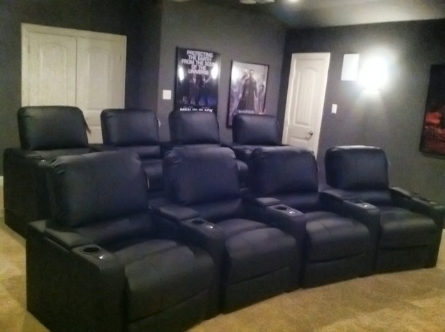 Polaris Theater Seating By Row One In Bonded Leather