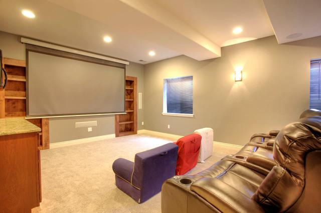 Pradera Basement Finish rustic-home-theater