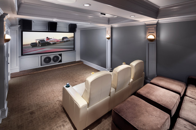 Pre War Aesthetics Post War Technology Traditional Home Theater New York By Electronics