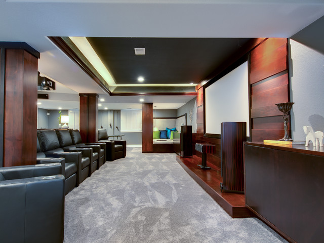 Preserve Basement Remodel contemporary-home-theater
