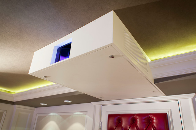 Pristine Hidden Technology Transitional Home Theater New York By Electronics Design