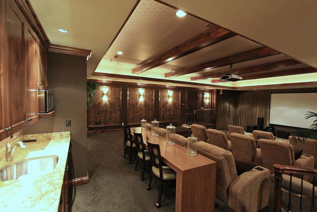 Private Luxury Estate for Sale in Medina, Ohio modern-home-theater