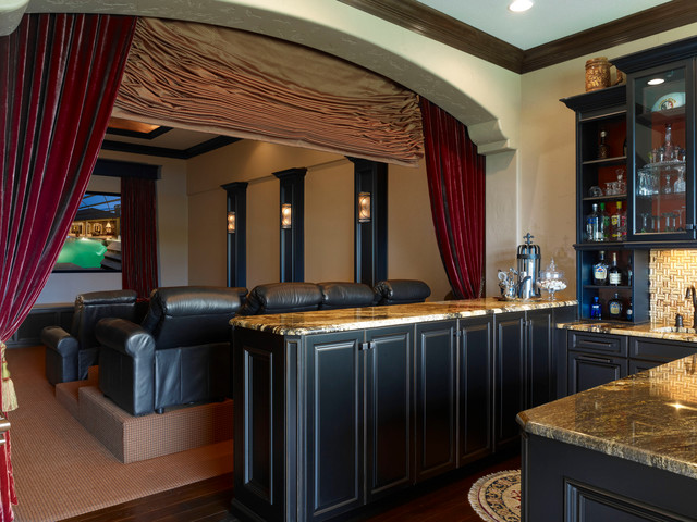 Home Theater Game Room Part - 15: Traditional Home Theater By Niemann Interiors