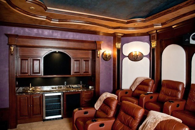 Private Residence In Boca Raton FL Traditional Home Theater Other By