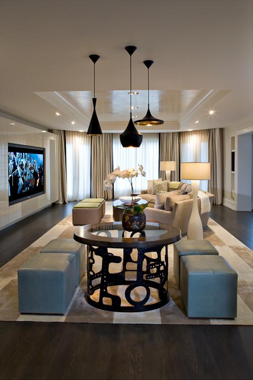 Private Residence contemporary media room