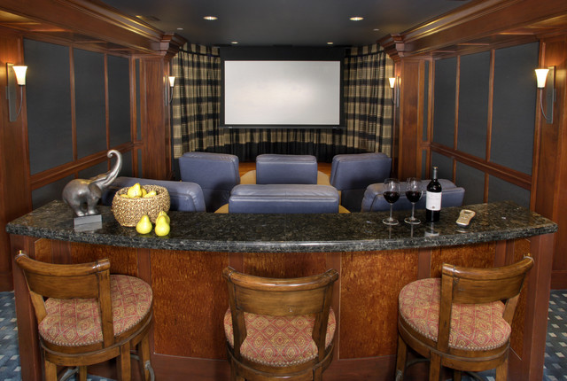 Private Residence Los Altos traditional-home-theater