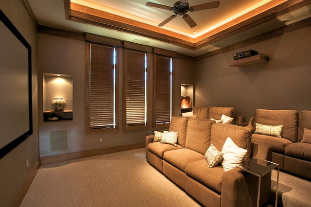 Private Residence - Old Naples, Florida contemporary-home-theater