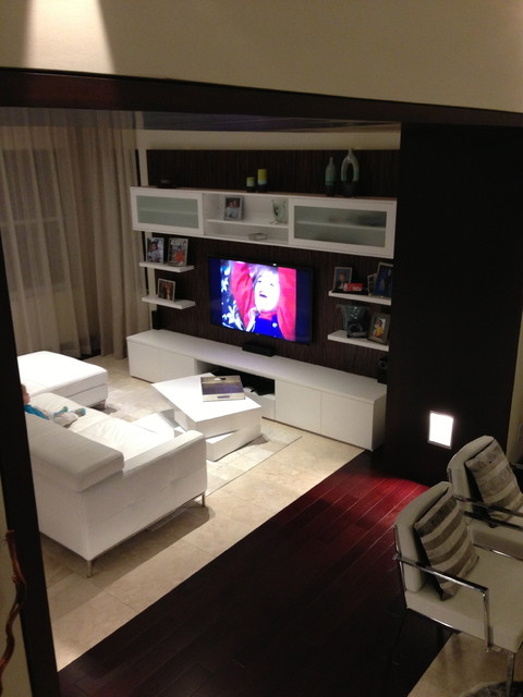 Private Residence - Pembroke Pines contemporary-home-theater