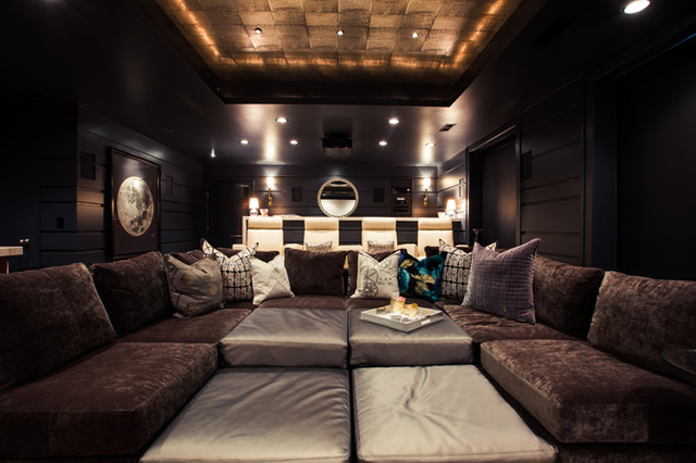 Private Residence   Theatre Room Contemporary Home Theater