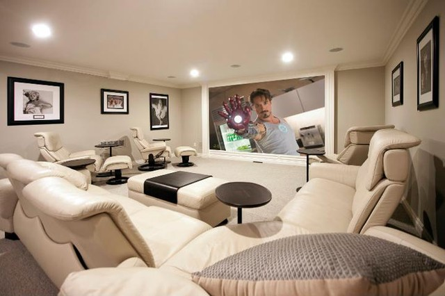 PRM Custom Builders LLC - New Custom Spaces contemporary media room
