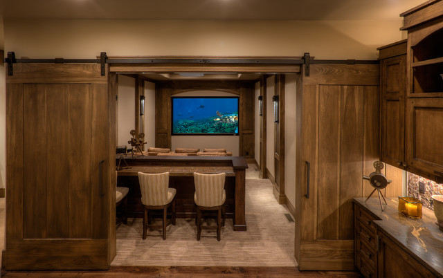 Promontory 60 Residence Transitional Home Theater