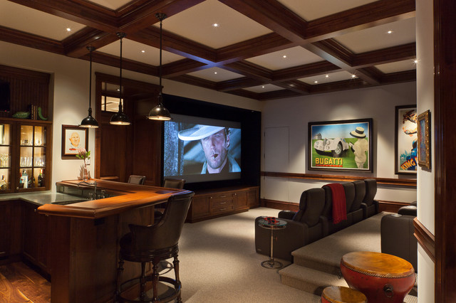 Relaxing Bars, Studies and Theater Rooms! ~ AlliKristé traditional-home-theater