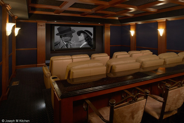 Residential Bar And Theatre Contemporary Home Cinema