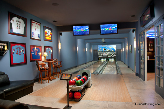 Residential Bowling Alley Lanes For Philadelphia Phillies Baseball Player S Home Modern Theater