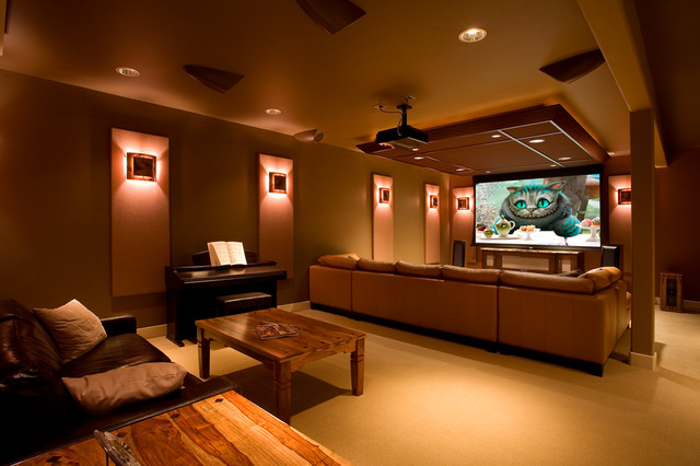Residential Interiors modern-home-theater