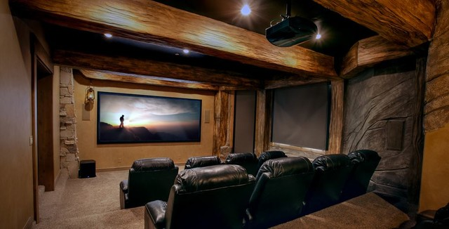 Residential Project Rustic Home Cinema Las Vegas By Innovations
