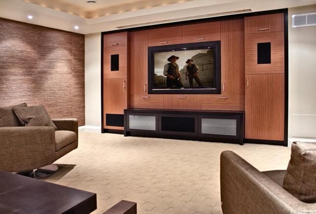 Retreat modern-home-theater