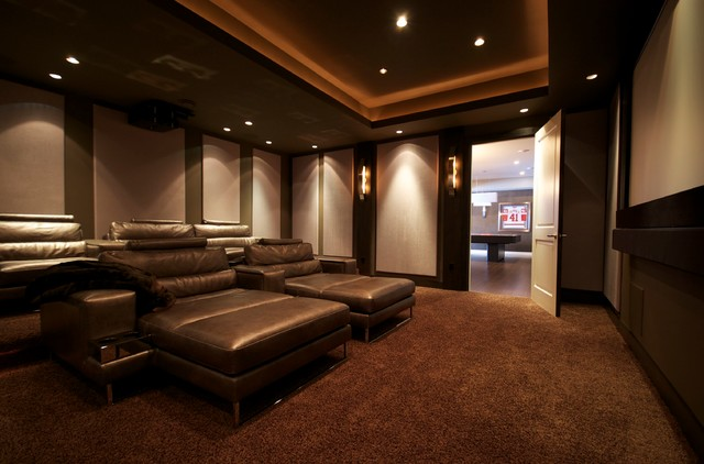 Richmond Theater Room Modern Home Theatre Detroit by Iron