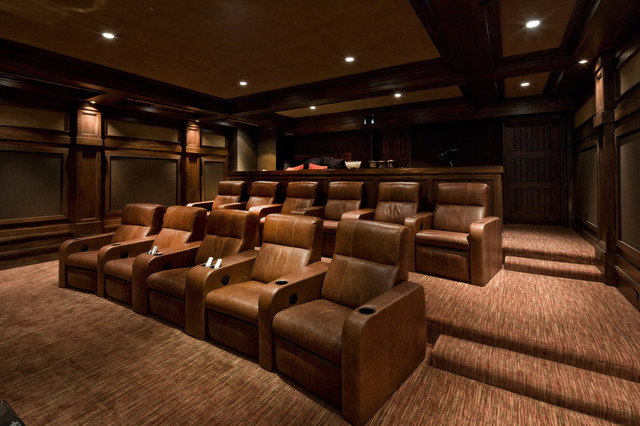 River Bend Ranch traditional-home-theater