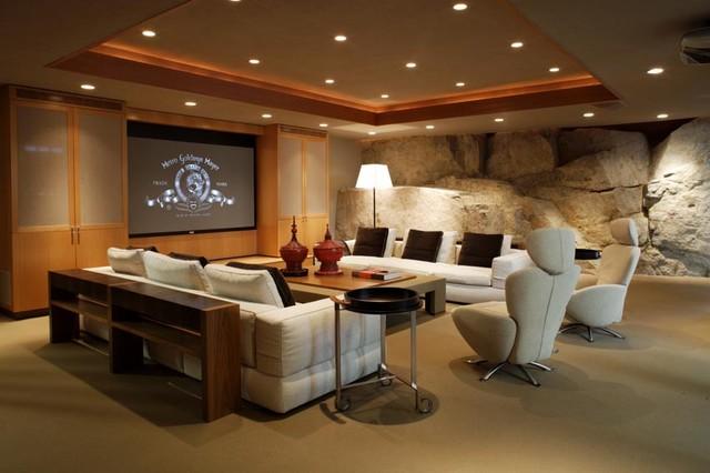 Robert Bailey Interiors modern-home-theater