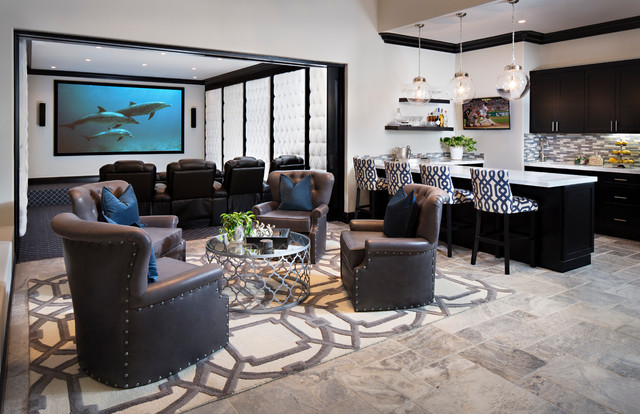 Run of the Knolls - Contemporary - Home Theater - san ...