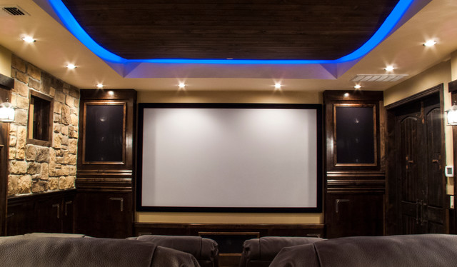 Rustic Home Movie Theater Rustic Home Theater By