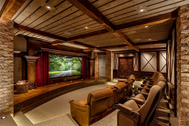 Rustic Theaterrustic Home Theater Charlotte