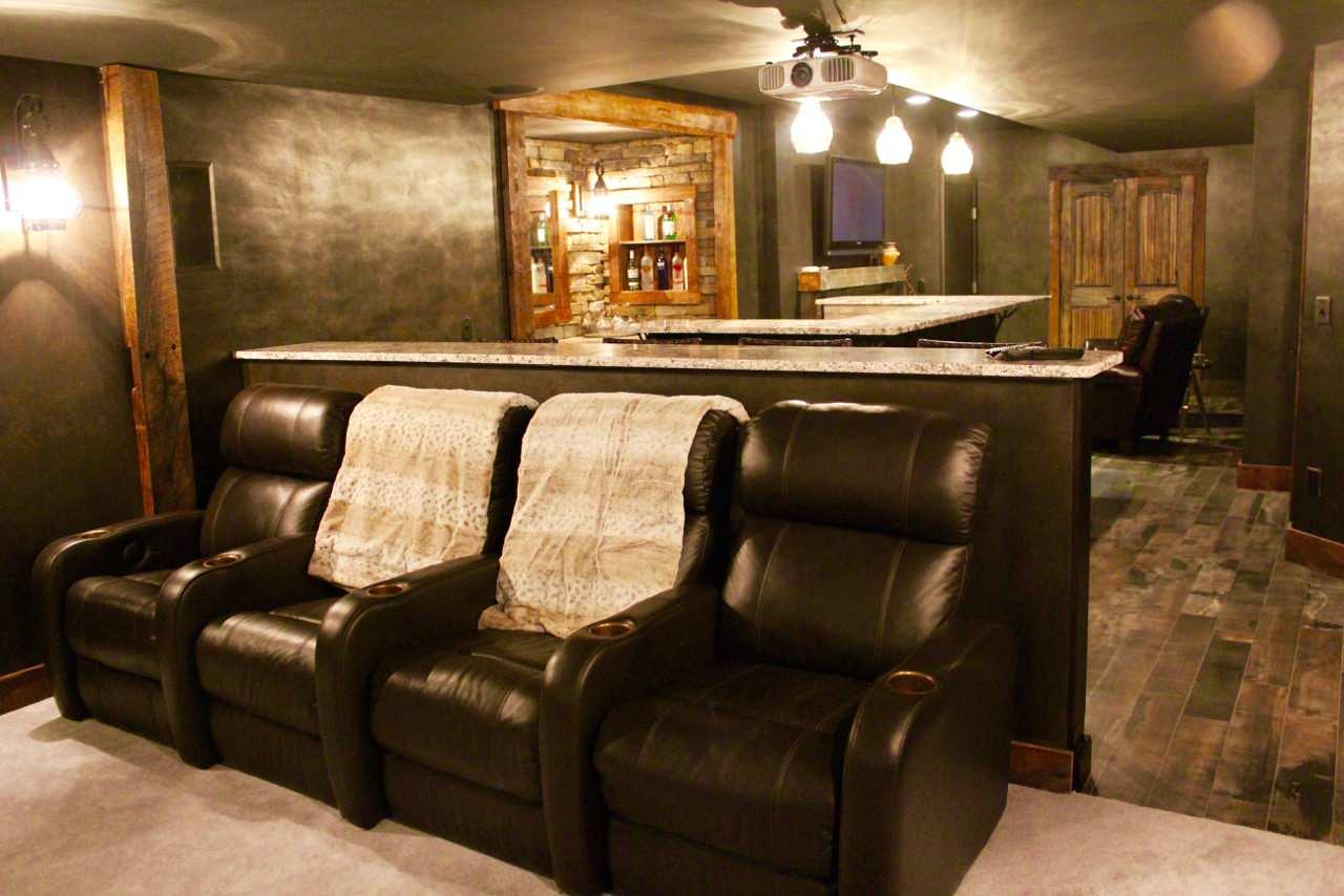 Rustic Theatre Room