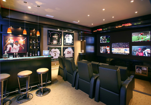 Sports-themed man cave