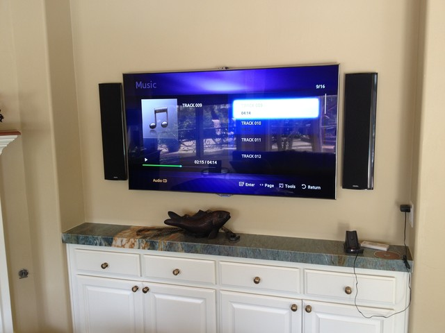 definitive technology home theater. san diego surround sound installation featuring definitive technology, samsung l contemporary-home-theater technology home theater a