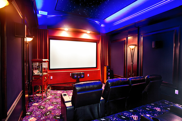 Sanford Lake Forest Traditional Home Theater Orlando By Flq Interior Design Inc