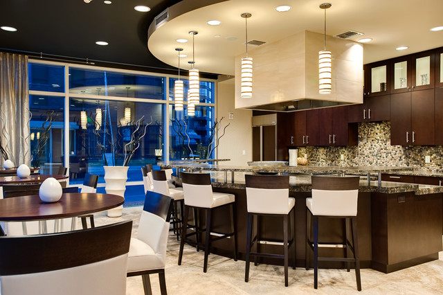 Seasons at Cherry Creek Resident Party Room contemporary-home-theater