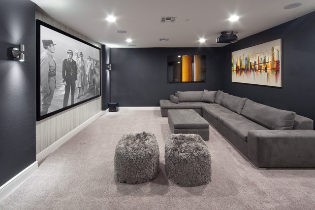 Sherbourne Circle transitional-home-theater