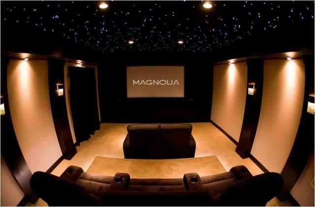 Showroom Design Contemporary Home Theater