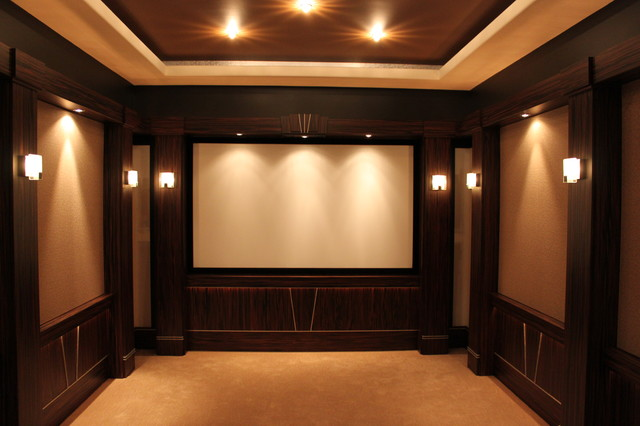 Showroom Home Theater traditional-home-theater