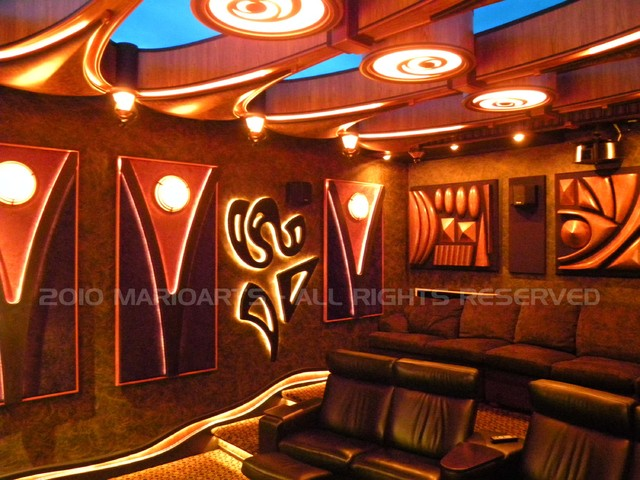 Silverwood Theater contemporary-home-theater