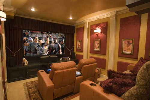 Simple Luxury contemporary media room