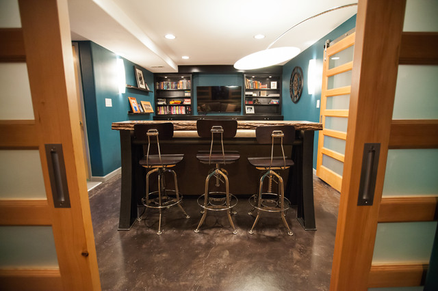 Sliding doors take less room and add privacy. - Contemporary - Home ...