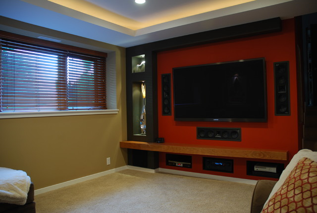 Small Home Theater - contemporary - media room - minneapolis - by ...