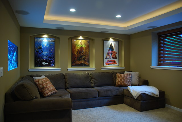 Small Home Theater Contemporary Home Theater Minneapolis By Level Des