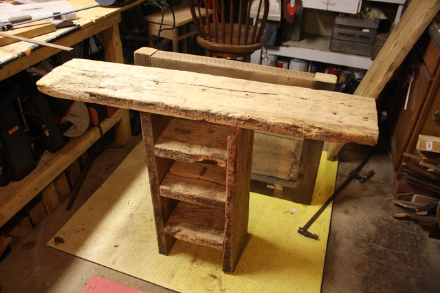 Sofa table/component TV stand(unfinished) traditional-home-theater
