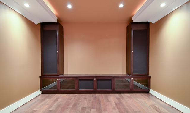 Sound System With Shaker Style Cabinets Vancouver Contemporary Home Theater