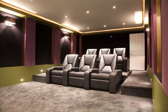 Acoustical Solutions For Home Theater : Soundsuede™ acoustical panels contemporary home