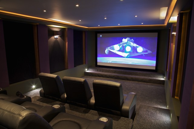 home theater acoustic panels. soundsuede™ acoustical panels contemporary-home-cinema home theater acoustic h